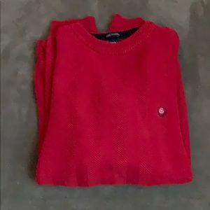 Chaps Red Crewneck Sweater Large